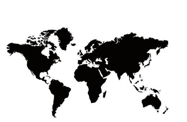 Big Global World Map Wall Art Decal Sticker