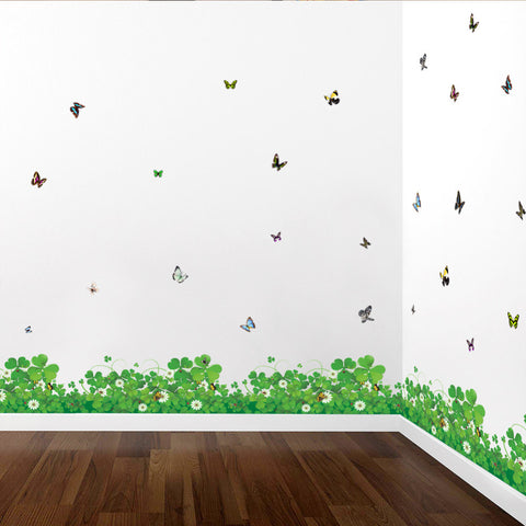 Fresh Clover Skirting Line Butterfly Decal