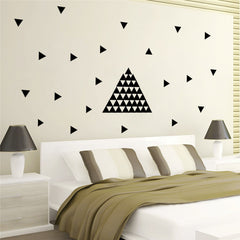 Black Arrow Triangle Pattern Wall Decal