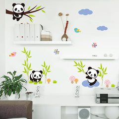 Black Bamboo Trees Wall Decal