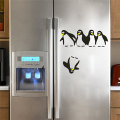 Funny Falling Penguin Wall Decal