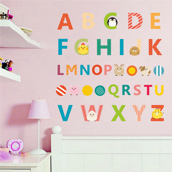 English Letters Alphabet Wall Decal