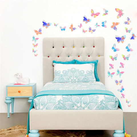 Colorful Flying Butterfly Wall Stickers