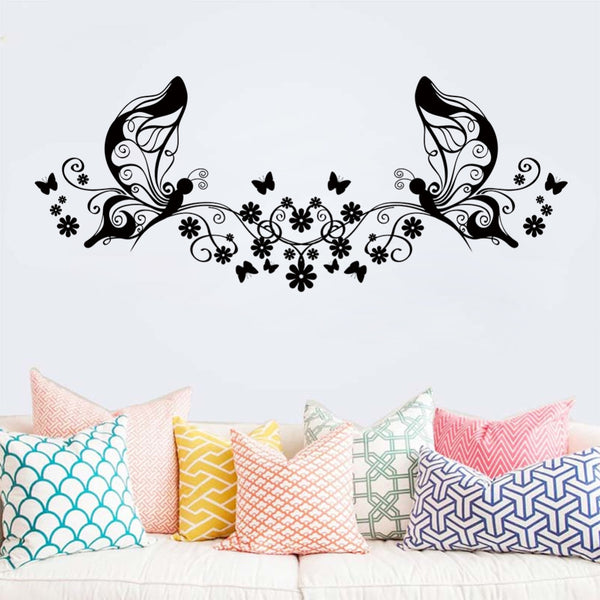 Flower Butterfly Wall Sticker