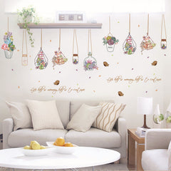 Garden Plant Pot Wall Stickers