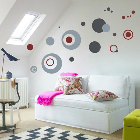 Abstract European Bordeaux  Wall Stickers