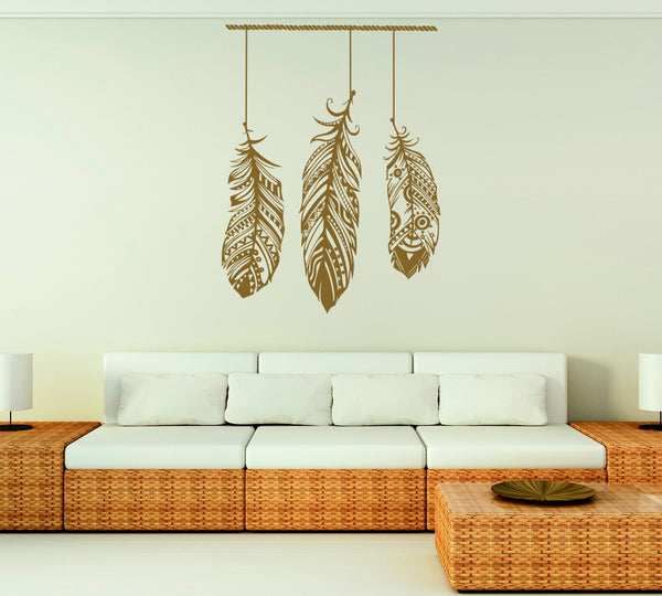 Boho Feather Wall Decal