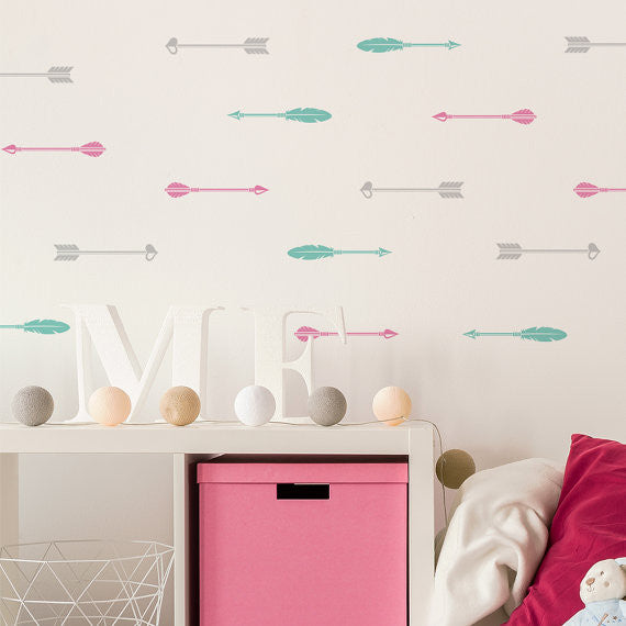 Colorfull Arrows Patern Wall Stickers