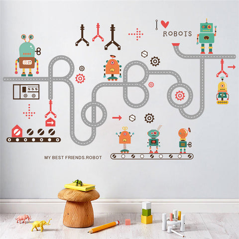 Toy Robots Wall Sticker
