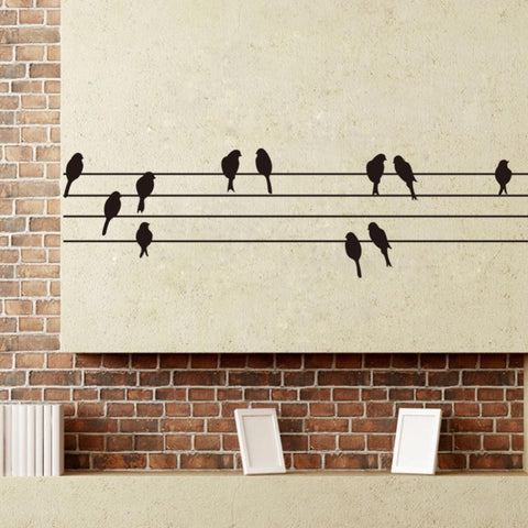 Sheet Music Birds Wall Sticker