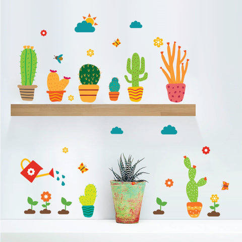 Garden Plants Flower Wall Stickers