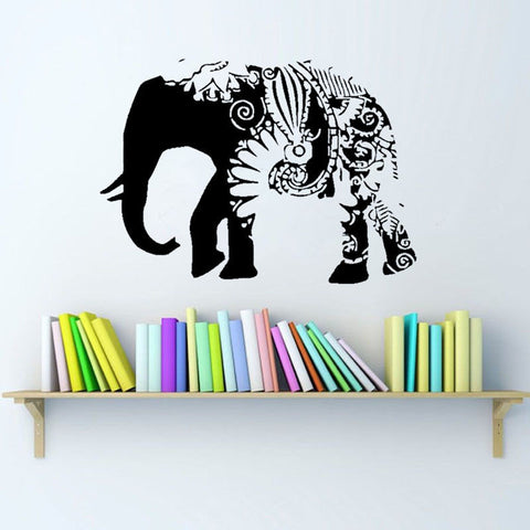 Boho Elephant Wall Decal