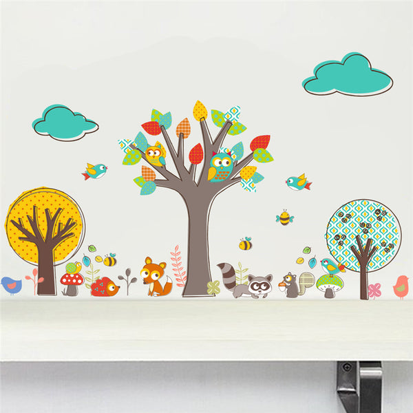 Tree Jungle Animals Wall Stickers