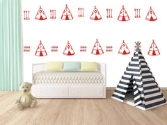 Tent And Arrow Wall Stickers
