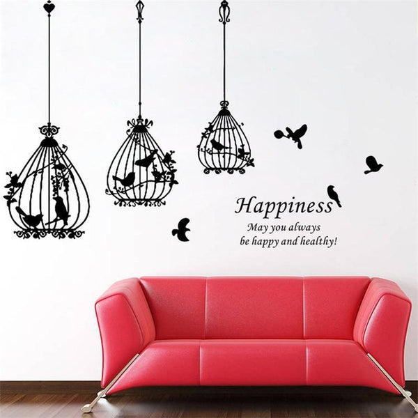 Birdcage with Birds Wall Decal