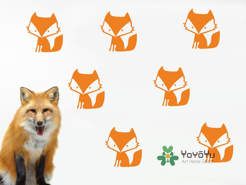 Vinyl Fox Pattern Wall Stickers