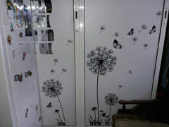 Dandelion and Butterflies Wall Stickers
