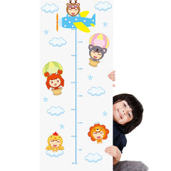 Animals Height Chart Wall Sticker