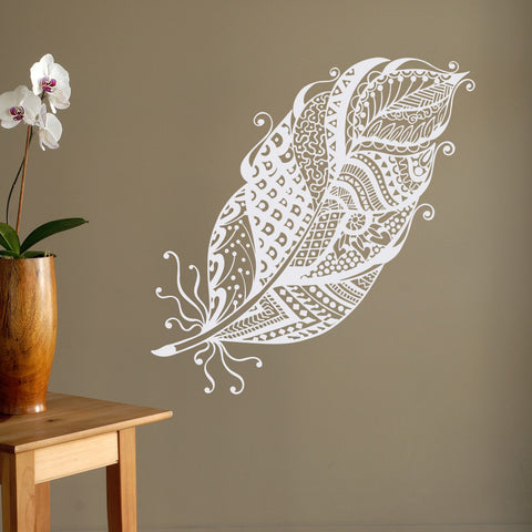 Bohemian Feather Wall Sticker