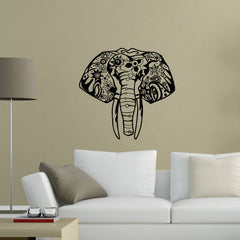 Indian Elephant Head Wall Sticker