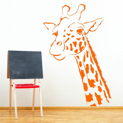 Giraffe Head Wall Sticker