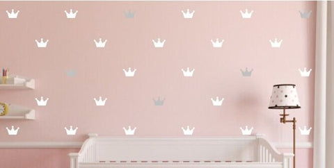 Princess Crown Wall Mural Stickers