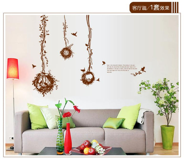 Bird's Nest Ball Wall Stickers