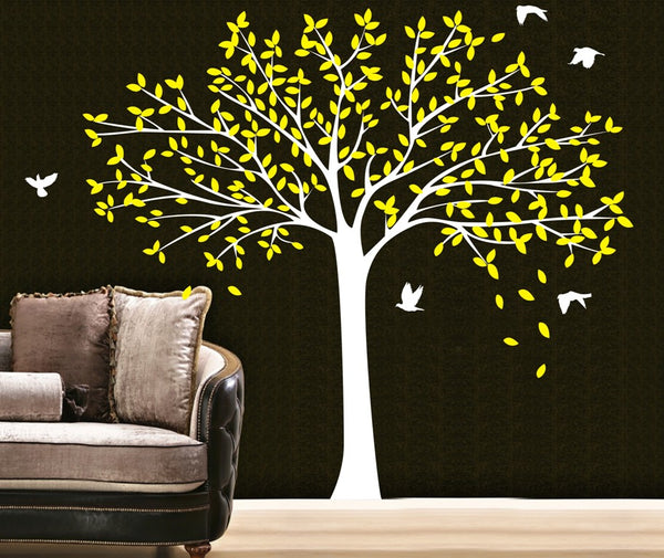 Birds Family Tree Wall Stickers