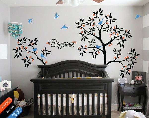 Personalized Name and Tree Wall Stickers