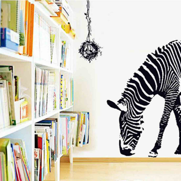 3D Zebra Animal Wall Stickers