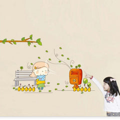 Girl Send the Letter Wall Stickers for Girls Room