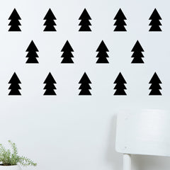 Christmas Pine Tree Decoration Wall Decal Stickers (28 Pieces)