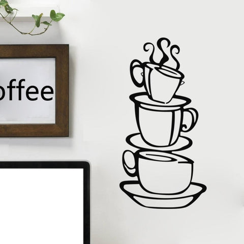 Kitchen Coffee Cups Removable Wall Sticker