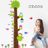 Tree and Animals Height Measure Wall Stickers