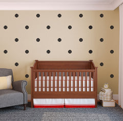 Boys Room Removable Baseball Vinyl Wall Stickers