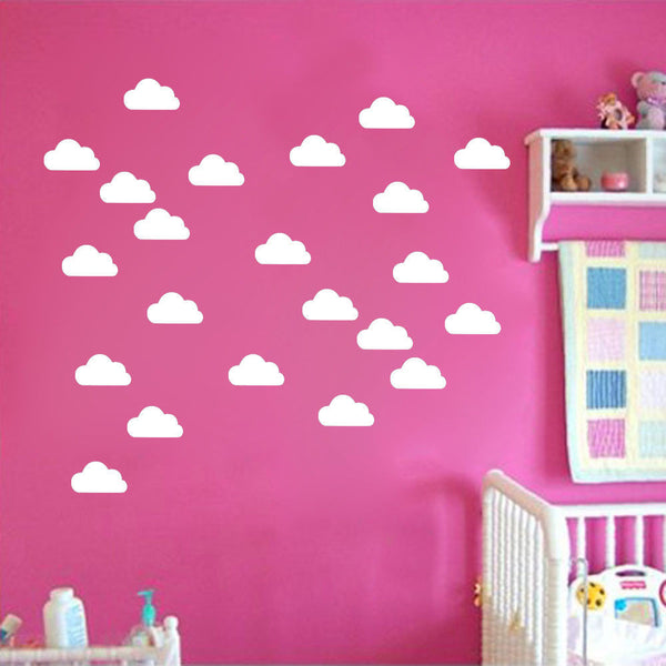 50 Little Cloud Kids Nursery Room Wall Stickers