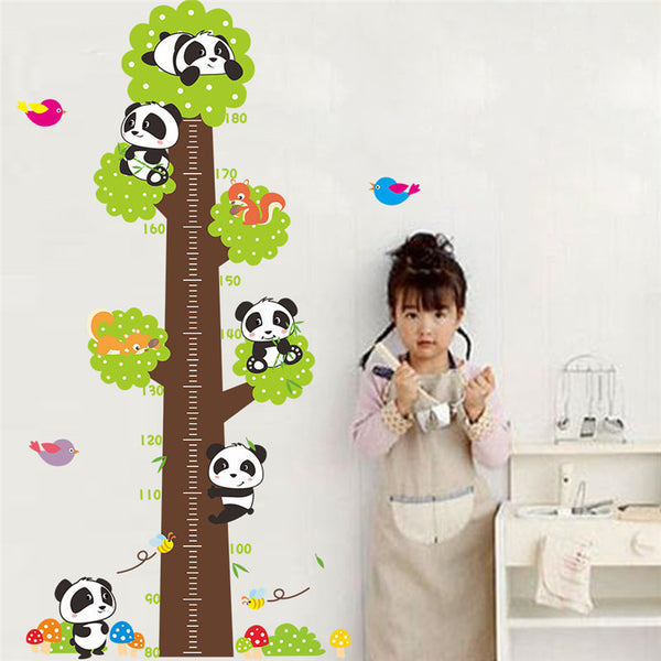 Naughty Panda Height Measure Chart Wall Sticker