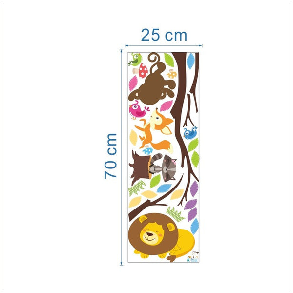 Colorful Tree  Animals Wall Stickers