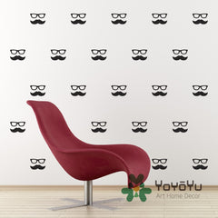 Moustache Wall Stickers