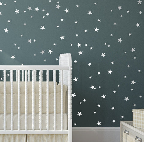 Multi Size Stars Wall Stickers
