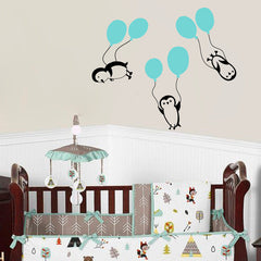 Penguins Balloons  Wall Stickers