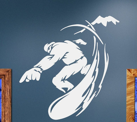 Cool Snowboarder Sport Wall Decal Sticker