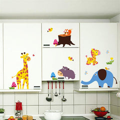 Colorful Cartoon Animals Decal Wall Stickers