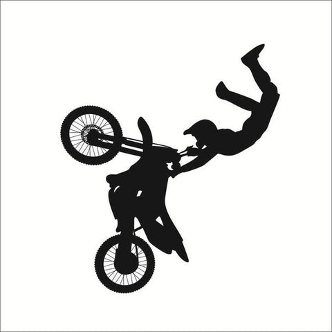 bike motocross wall sticker