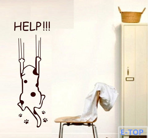 Cat Help Quote Wall Sticker