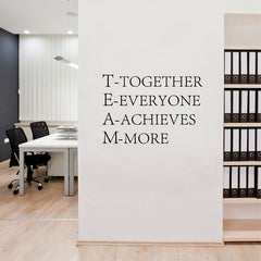 Teamwork Inspirational Wall Quote