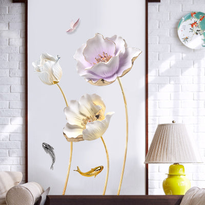 Chinese Style Flower Wall Sticker