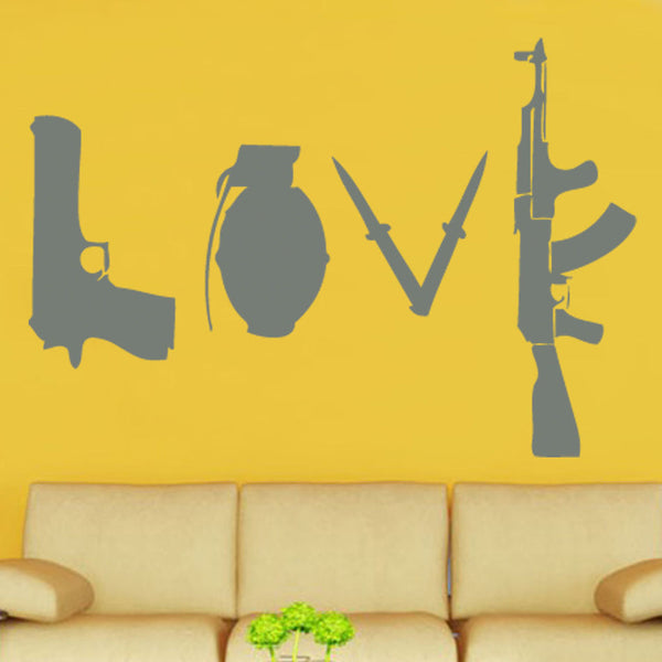 Banksy Love Graffiti Wall Sticker