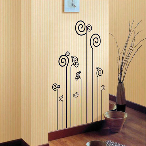 Flower Tree Circles Wall Sticker