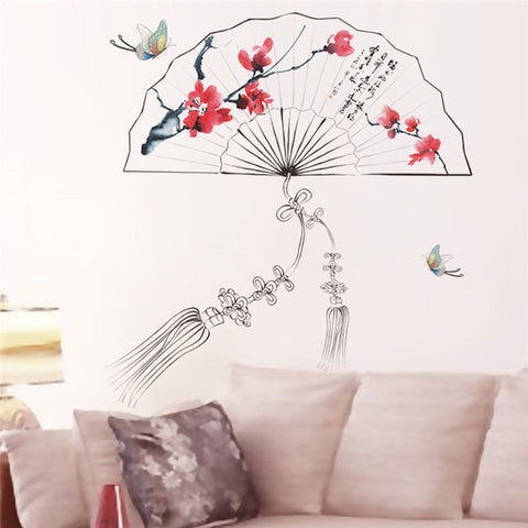 Plum Blossom Lotus Flower Decal